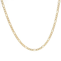4.4 mm 14K Yellow Gold Classic Figaro Chain Necklace Italy - $642.51