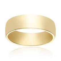 6.0mm 14K Yellow Gold Wedding Band - $385.11
