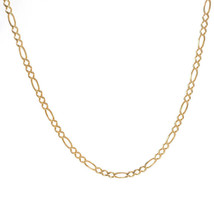 3.8 mm 14K Yellow Gold Classic Figaro Chain Necklace Italy - $682.11