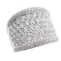 4.25 Carat Round Brilliant Diamond Wedding Band 18K White Gold - $7,751.69