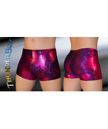 Thunderbox Spandex Pink Green Reptile Fossil Shorts Causal Dance Yoga S,... - $23.00