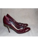 Christian Dior MAROON RED Patent Leather PUMP Heels 40/9 For Women Used - $99.00