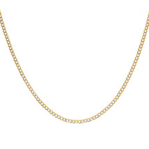2.6 mm 14K Yellow Gold Cuban/Curb Diamond Cut Chain - $266.31