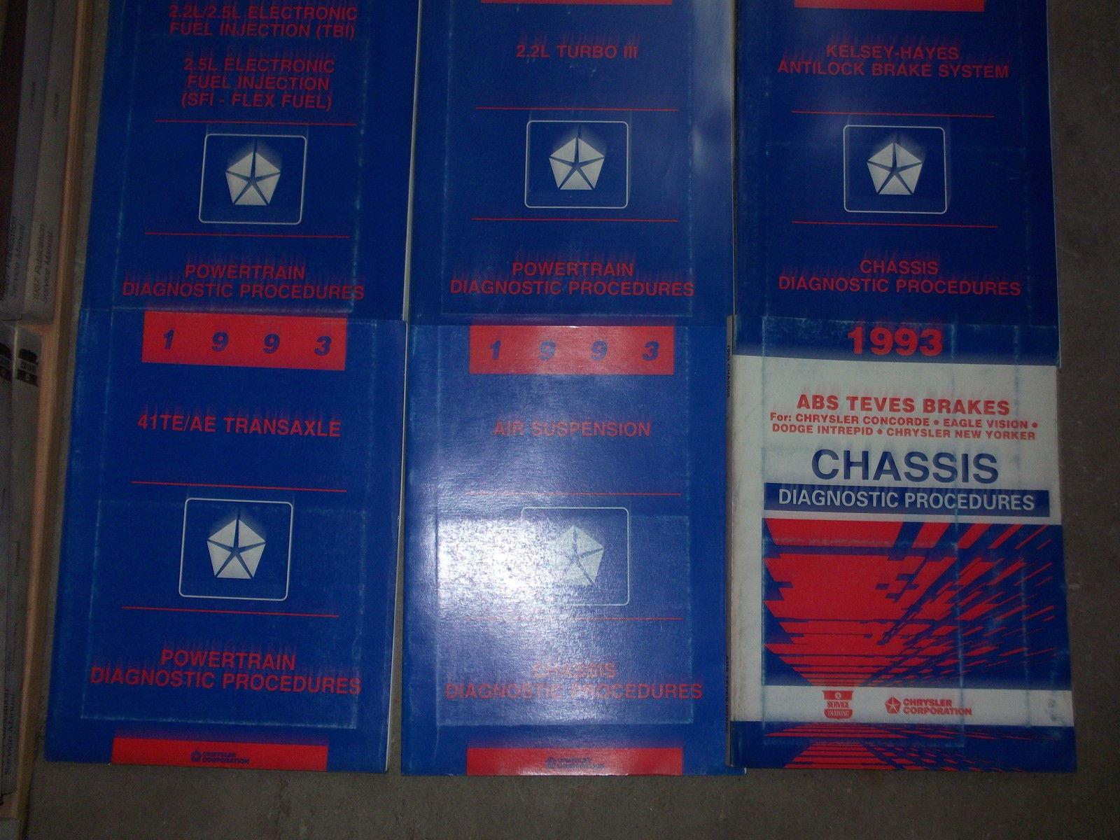 1993 Chrysler NEW YORKER Service Repair Manual Set OEM W DIAGNOSTICS BOOKS