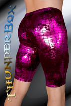 ThunderBox Nylon Spandex Pink Reptile Jammer Shorts Casual, Party, Dance... - $25.00
