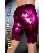 ThunderBox Nylon Spandex Pink Reptile Jammer Shorts Casual, Party, Dance... - $30.00