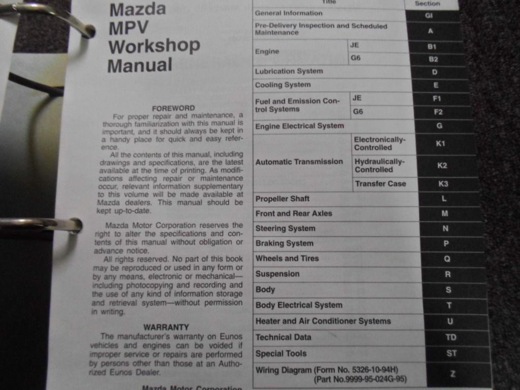 1995 Mazda Mpv Wiring Diagram