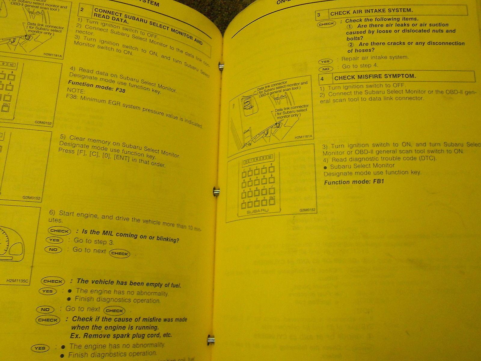 1995 Subaru Impreza General Info Service Repair Shop Manual BINDER FACTORY OEM