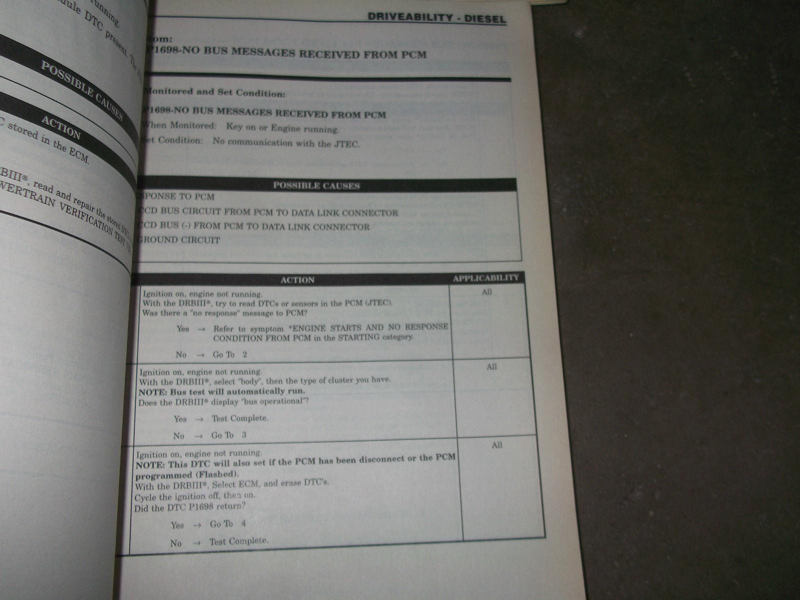 2002 Dodge Ram Truck DIESEL 2500 3500 Service Shop Repair Manual Set FACTORY x