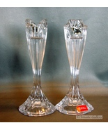 Oneida Crystal Augustina ~ One Inch Taper  Candlestick Holders - $12.99