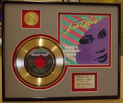 Aretha franklin framed gold record art tv movie amp character toys