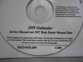 2009 2007 MITSUBISHI OUTLANDER Service Repair Manual CD FACTORY BARGAIN 09 07 image 2