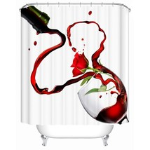 Shower Curtain Waterproof Bath Screen Beautiful Red Flowers High Quality... - $31.00+