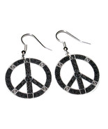 Celtic Knotwork Peace Symbol Earrings HANDMADE PLASTIC CHARMS Hippie Hap... - $6.91