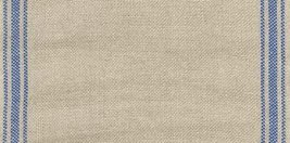 "27ct Ticking Stripe Natural/Royal Blue banding 6.6""w x 18"" 100% linen Mill Hill  - $12.60"