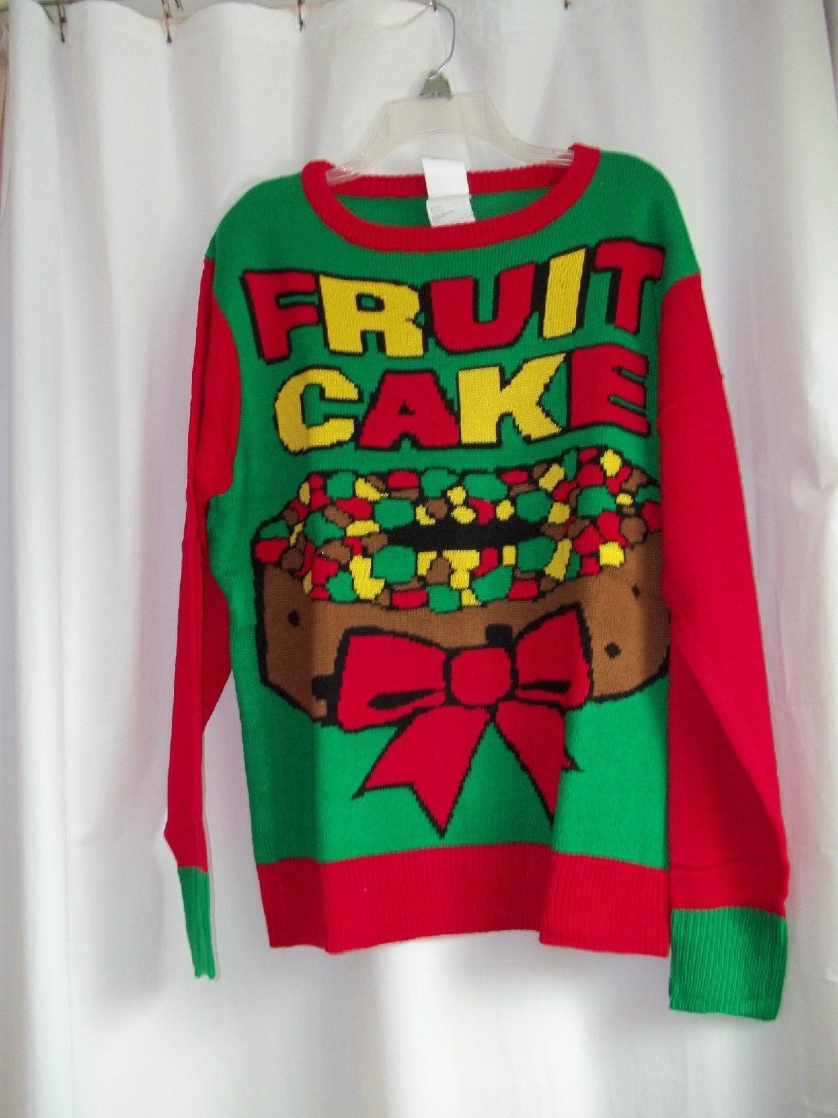 Ugly Christmas Sweater Fruit Cake Holiday Sweater Med and Large NEW