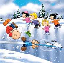 Peanuts Ice Skateing Cross Stitch Pattern***LOOK*** - $4.95
