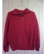 Mens KIRKLAND Burgundy Distress Tight Knit Cotton 1/2 Zip Sweater Sweats... - $4.99