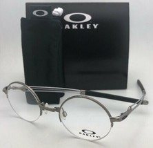 752fdeab8db33 New OAKLEY Eyeglasses MADMAN OX5085-0243 43-21 Round Semi Rimless Gunmet.