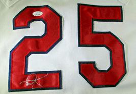 MARK MCGWIRE / AUTOGRAPHED CARDINALS WHITE RUSSELL MLB BASEBALL JERSEY / JSA LOA image 3