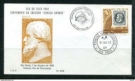 Brazil 1978 FDC Stamp Day and Centenary of Pedro II Special cancel 11403 - $9.90
