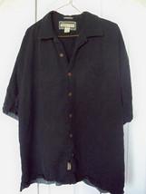 XL  Jamacia Jaxx  Black Mens  Brown Button Shirt  100% Silk Dress Casual... - $19.99