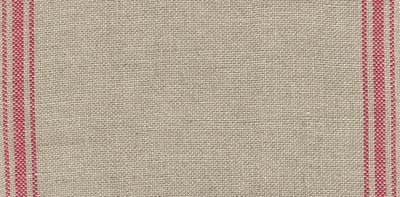 "Primary image for 27ct Ticking Stripe Natural/Dark Red banding 6.6""w x 18"" 100% linen Mill Hill"