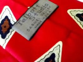 Talbott Studio, Hand Sewn,  Red, Beige and Brown Diamond Silk Neck Tie - $18.95