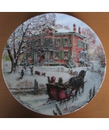 Coming Home - Victorian Christmas Collector Plate by Stewart Sherwood, B... - $19.95
