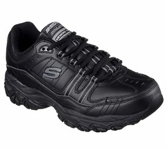 Skechers Wide Width EW Black shoes Men's Memory Foam Sport Comfort Sneaker 50122 - $56.99