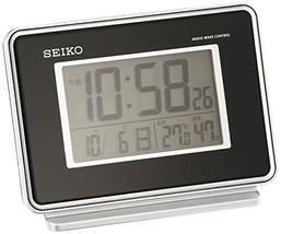 Seiko CLOCK clock 2-channel alarm temperature and humidity radio digital alarm c - $69.28