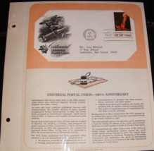 1974 Universal Postal Union First Day Cover by Postal Commemorative Society - $10.00