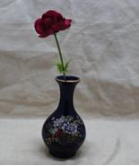 Vintage Kutani Japan Cobalt Blue Floral Miniature Bud Vase - $7.50