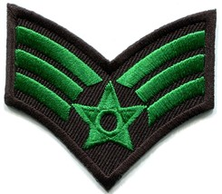 Army military insignia rank war biker retro applique iron-on patch new S... - $2.98