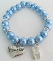 Personalized Junior Bridesmaid Bracelet Flower Girl Bracelet - $14.03