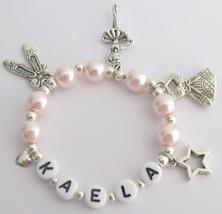 Recital Gift Ballet Bracelet Blush Pink W/ Multiple Ballet Charms - $12.73