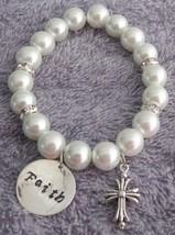 Christian Jewelry Faith Bracelet with Cross Charm - $15.33