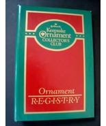 Hallmark Keepsake Ornament Collector's Club Ornament Registry Notebook, ... - $5.95