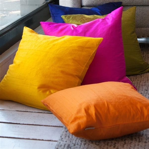 Pillow Decor - Sankara Black Silk Throw Pillow 20x20 image 3