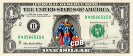 SUPERMAN Marvel Comic on REAL Dollar Bill Cash Money Bank Note Currency Dinero - $6.66+