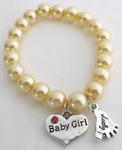Lucky Foot Jewelry Baby Girl Bracelet Yellow Pearls Bracelet - $12.73
