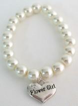 Wedding Gift Bridal Party Jewelry Flower Girl Bracelet Ivory Pearls - $11.43
