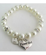 Junior Bridesmaid Flower Girl Gift Ivory Pearl ... - $14.03