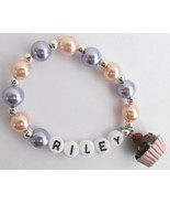Cupcake Jewelry Name Bracelet Party Favor Brace... - $11.43