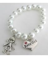Baby Girl Bracelet with Girl & Baby Girl Charm ... - $12.08