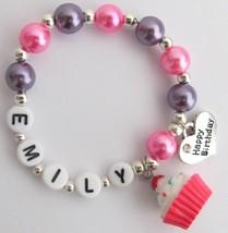 Personalized Happy Birthday Party Bracelet Birthday Party Jewelry - $12.08