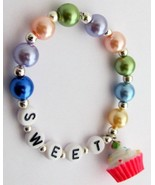 Party Favors Name Bracelet Christmas Cupcake Ch... - $11.43