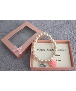 Happy Birthday Bracelet Blush Pink Pearl Bracelet - $17.93