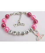 Pink Ballet Charm Dance Bracelet with Dance Charm - $14.68