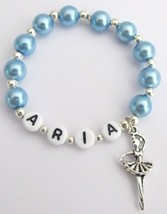 Ballerina Personalized Ballet Group Dance Gift Blue Pearls - $10.78